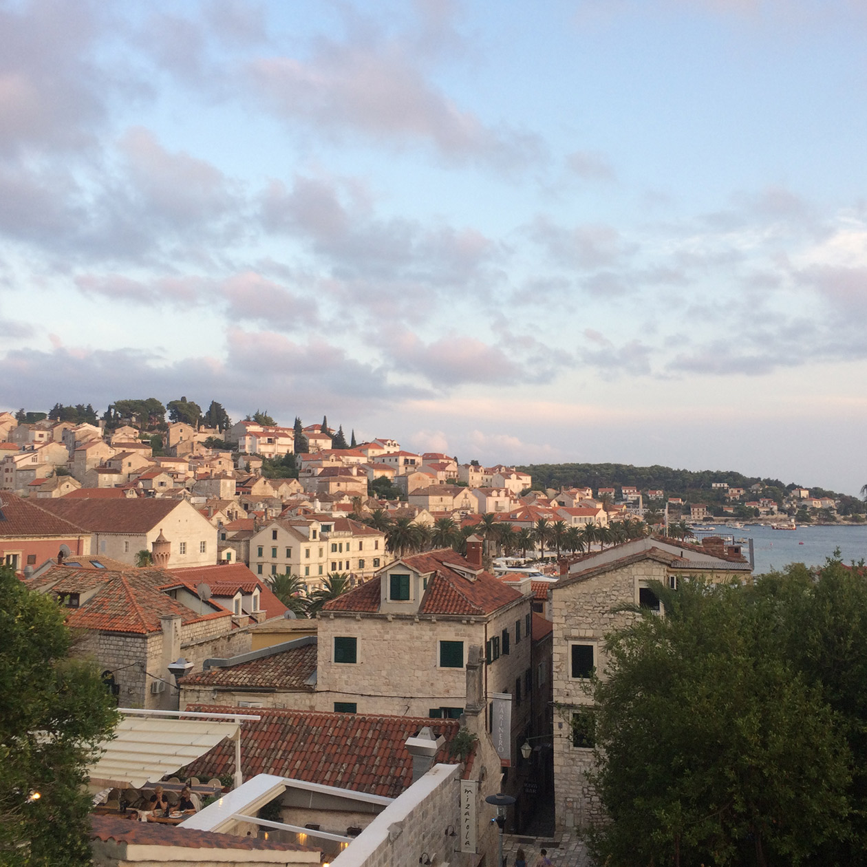 Hvar city walk love life island croatia travel