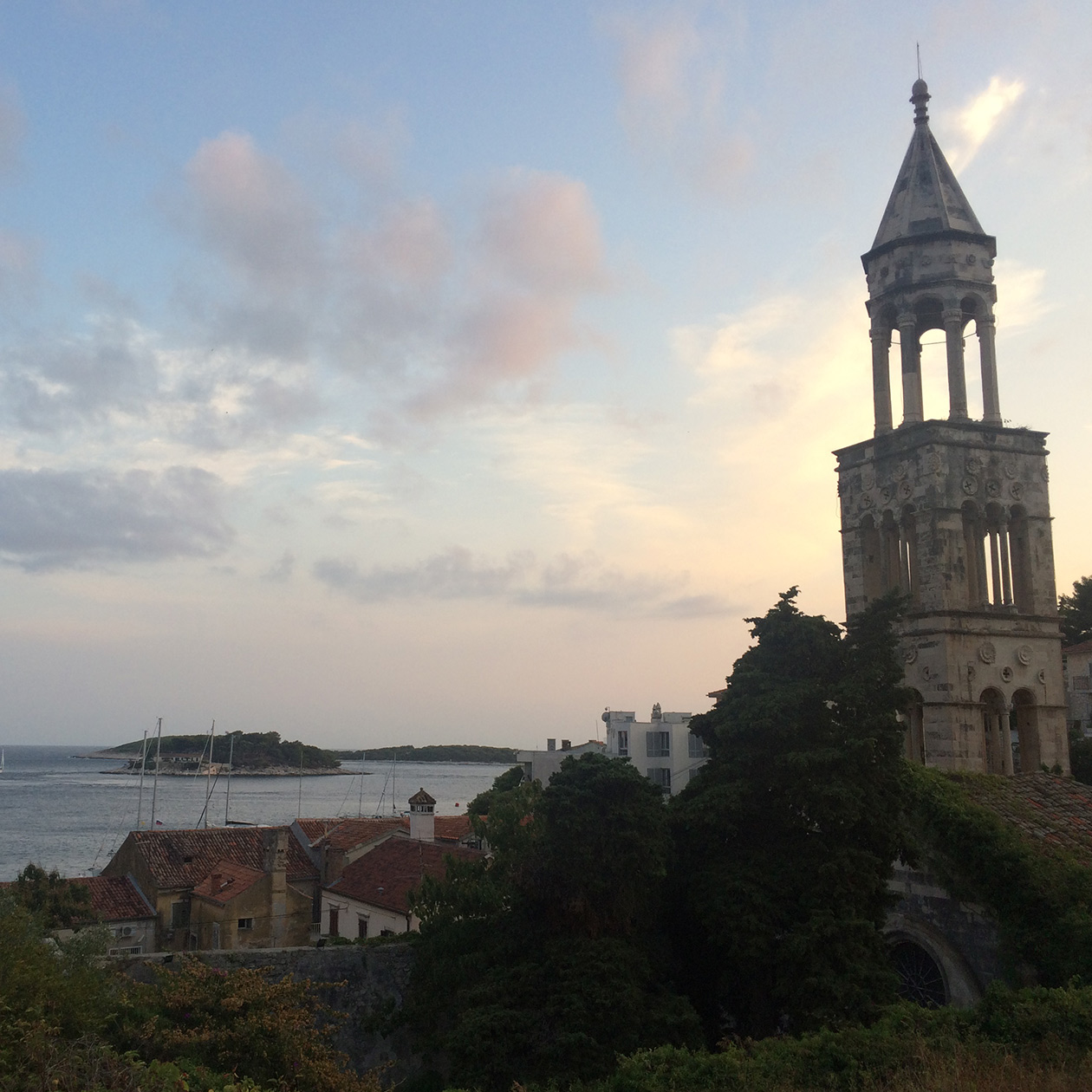 church hvar city god travel island croatia