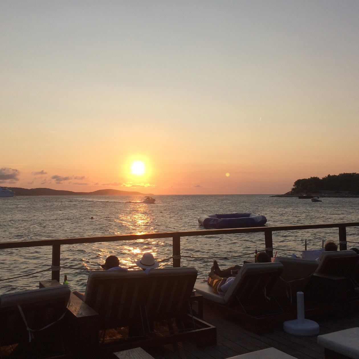 hula hula bar beach drink party music sunset hvar city island travel croatia